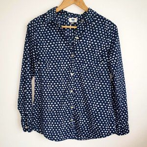 3for15$ polka dot navy blue and white shirt
